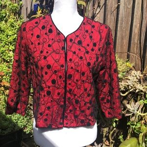 Ruby Rd Crop Red Jacket Sz 12P.  A230